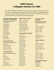 ASHS Honors Collegiate Scholars for 2006