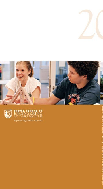 Guide to Programs and Courses 2011-2012 - Thayer School of ...