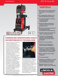 Leaflet STT LF30 new design German.qxd - Lincoln Electric