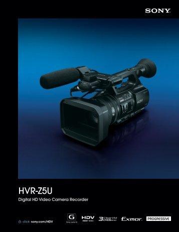 Sony HVR-Z5U Manual