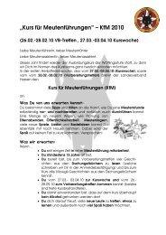 """""""Kurs für Meutenführungen"""" – KfM 2010 - BdP Landesverband Hessen"""