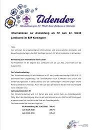 Informationen zur Anmeldung als IST zum 22. World Jamboree im ...