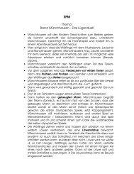 Thema: Baron Münchhausen – Das Lügenduell