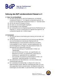 Satzung des BdP Landesverband Hessen e.V.