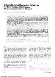 Effect of Inhaled Magnesium Sulfate on