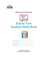 School News - Media and Information Literacy