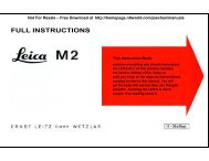 Leica M2 instruction manual