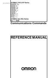SYSMAC CS/CJ/CP Series,SYSMAC One NSJ Series ...