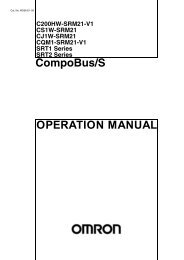 OPERATION MANUAL CompoBus/S