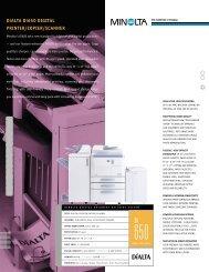 DiALTA Di650 DIGITAL PRINTER/COPIER/SCANNER