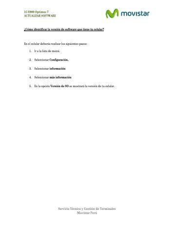 Actualiza el software de tu equipo - Catalogo Movistar