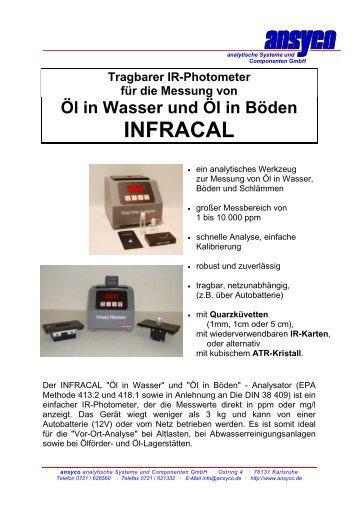 Tragbarer IR-Photometer für die Messung von Öl in Wasser und Öl in