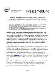 Schweizer Student an der Intel ISEF 2013 zweifach ausgezeichnet