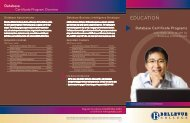 Certificate Brochure - Bellevue College Continuing Education