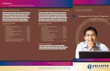 Certificate Brochure - Bellevue College Continuing Education