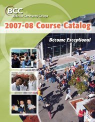2007-2008 Course Catalog - Bellevue College