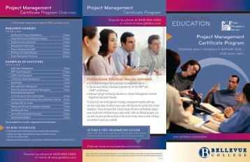 Project Management Certificate Program - Bellevue College ...
