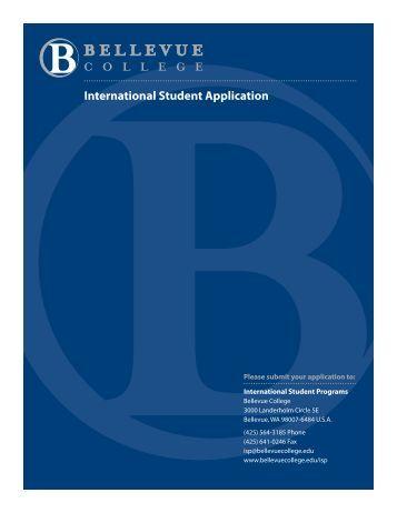 International Student Application - Bellevue College