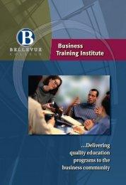 Business Training Institute Business Training Institute - Bellevue ...