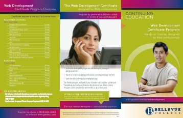 The Web Development Certificate Web Development Certificate