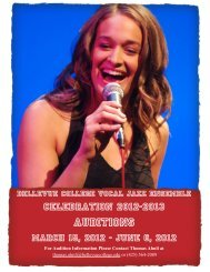 Vocal Jazz Auditions Template - Bellevue College