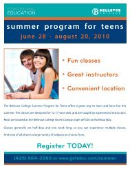 summer program for teens - Bellevue College Continuing Education