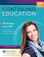 Downloadable Schedule Available - Bellevue College Continuing ...
