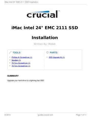 "iMac Intel 24"" EMC 2111 SSD Installation"