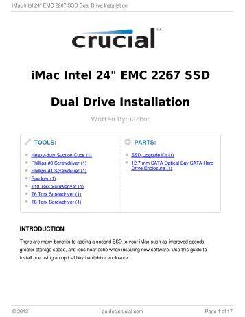"iMac Intel 24"" EMC 2267 SSD Dual Drive Installation"