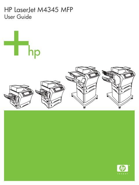 HP LaserJet M4345 MFP User Guide - All Star Computer Rentals of