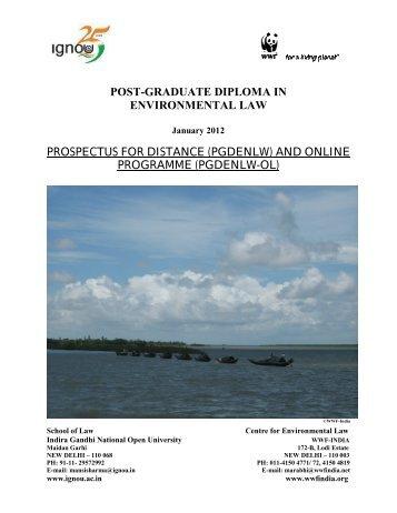 Post Graduate Diploma in Environmental Law - WWF-India