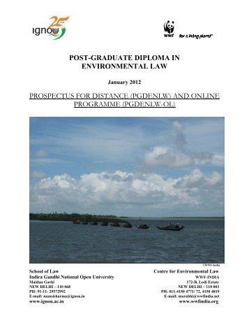 post-graduate diploma in environmental law - WWF-India