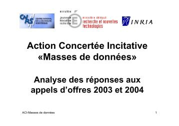 Introduction - ACI Masse de données