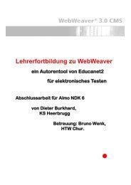 Planung einer schulinternen Weiterbildung: - Kantonsschule ...