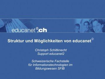Struktur und Möglichkeiten von educanet