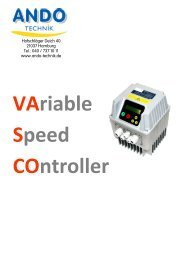 VASCO: Variable Speed Controller - ANDO Technik Gmbh