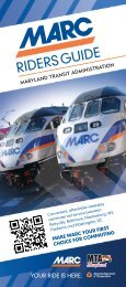 MARC Riders Resource Guide - Maryland Transit Administration ...