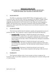 Specification - Maryland Transit Administration