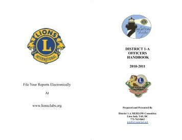 File Your Reports Electronically At www.lionsclubs ... - E-district.org