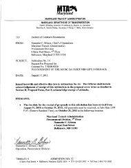 Test & Inspection - Maryland Transit Administration
