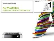 Windows Vista mit A1 WLAN Box TG 788 - A1.net