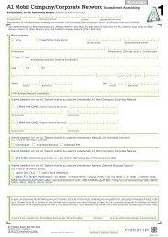A1 Mobil Company/Corporate Network Zusatzdienste ... - A1.net