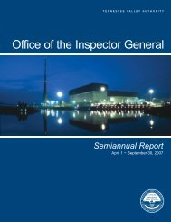 Office of the Inspector General - TVA Inspector General - Tennessee ...