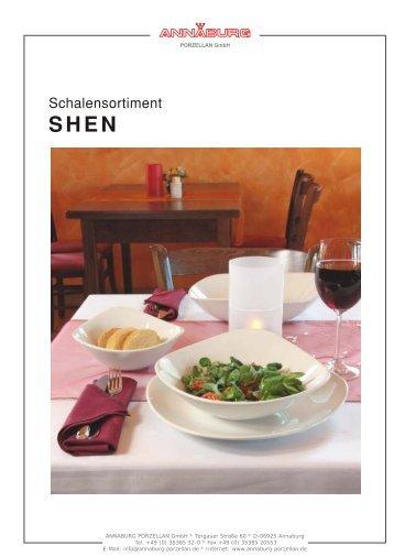 Plattensortiment Shen - ANNABURG Porzellan Gmbh