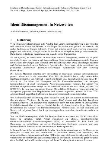 Dokument (PDF) - Professur Datenschutz und Datensicherheit