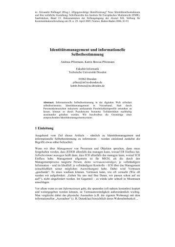 Document (PDF) - Professur Datenschutz und Datensicherheit ...