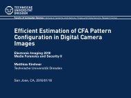 Efficient Estimation of CFA Pattern Configuration in Digital Camera ...