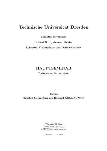 Als PDF - Professur Datenschutz und Datensicherheit - Technische ...