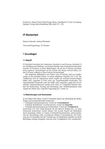 IT-Sicherheit - Professur Datenschutz und Datensicherheit