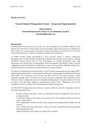 Thesis overview Netconf Element Management System – Design ...